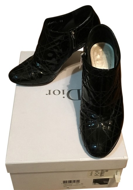Dior Blac Cannage Bottine 9cm Boots/Booties Size US 6 Regular (M, B) Dior Blac Cannage Bottine 9cm Boots/Booties Size US 6 Regular (M, B) Image 1