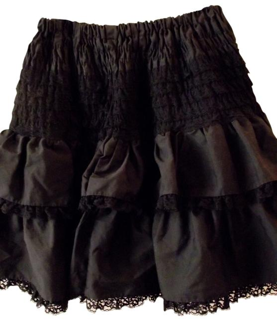 Black Vintage Western Layered Tulle Hipster Mid Length Puff Lace Small Skirt Size 6 (S, 28) Black Vintage Western Layered Tulle Hipster Mid Length Puff Lace Small Skirt Size 6 (S, 28) Image 1