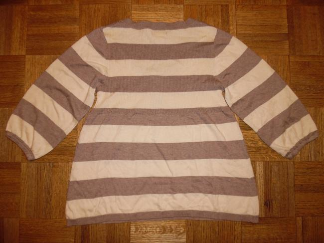American Rag Stripes 3/4 Sleeves Thin Knit Sweater Image 1