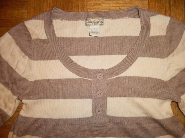 American Rag Stripes 3/4 Sleeves Thin Knit Sweater Image 2