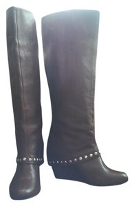 BCBGeneration Studded Soft Leather Chestnut Boots