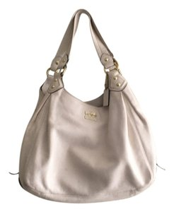 Coach Tote in White with gold