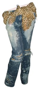 Boot Cut Jeans-Distressed