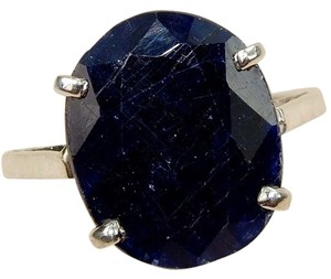 Bench 12CT Natural Sapphire 925 Solid Genuine Sterling Silver Ring Sz 8