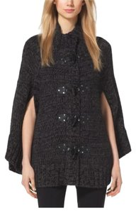 Michael Kors Sweater Jacket Toggles Cape