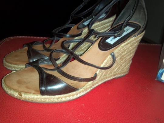 Steve Madden Black/Brown Wedges Image 6