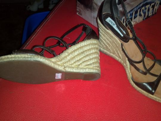 Steve Madden Black/Brown Wedges Image 7