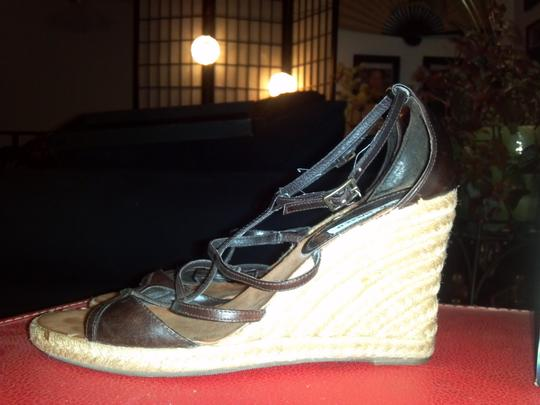 Steve Madden Black/Brown Wedges Image 8