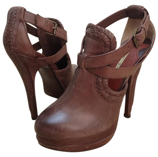 Max Studio Brown (Unworn) Leather Clog Platforms Size US 5.5 Regular (M, B) Max Studio Brown (Unworn) Leather Clog Platforms Size US 5.5 Regular (M, B) Image 1