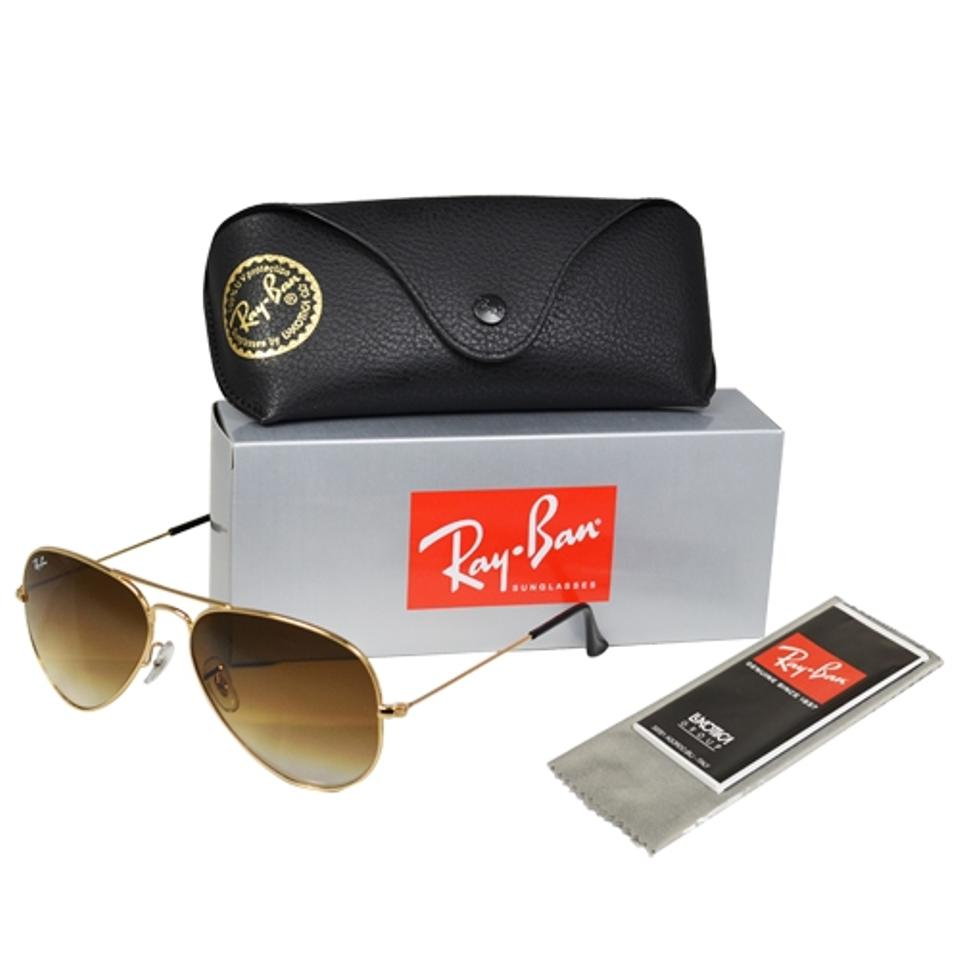 9d9aebe8046 ... australia ray ban new ray ban aviator rb3025 001 51 brown gradient lens  gold 42462 7e4c9