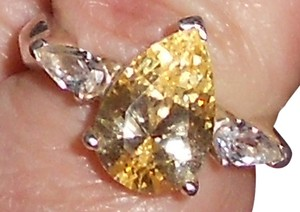 Other Yellow And White Cz 925 Sterling Silver Ring