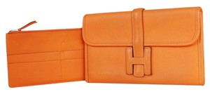 Hermès Handbag Rare Wallet Orange Clutch