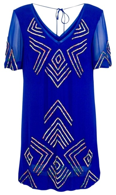 Preload https://img-static.tradesy.com/item/11862409/french-connection-blue-confetti-grid-tie-back-t-short-cocktail-dress-size-0-xs-0-1-650-650.jpg