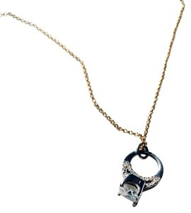 Juicy Couture Juicy Couture Diamond Engagement Ring Charm Gold Plated Necklace