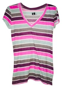 BDG Urban Outfitters V-neck T Shirt Striped