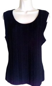 Jones New York Sleeveless Textured Sweater