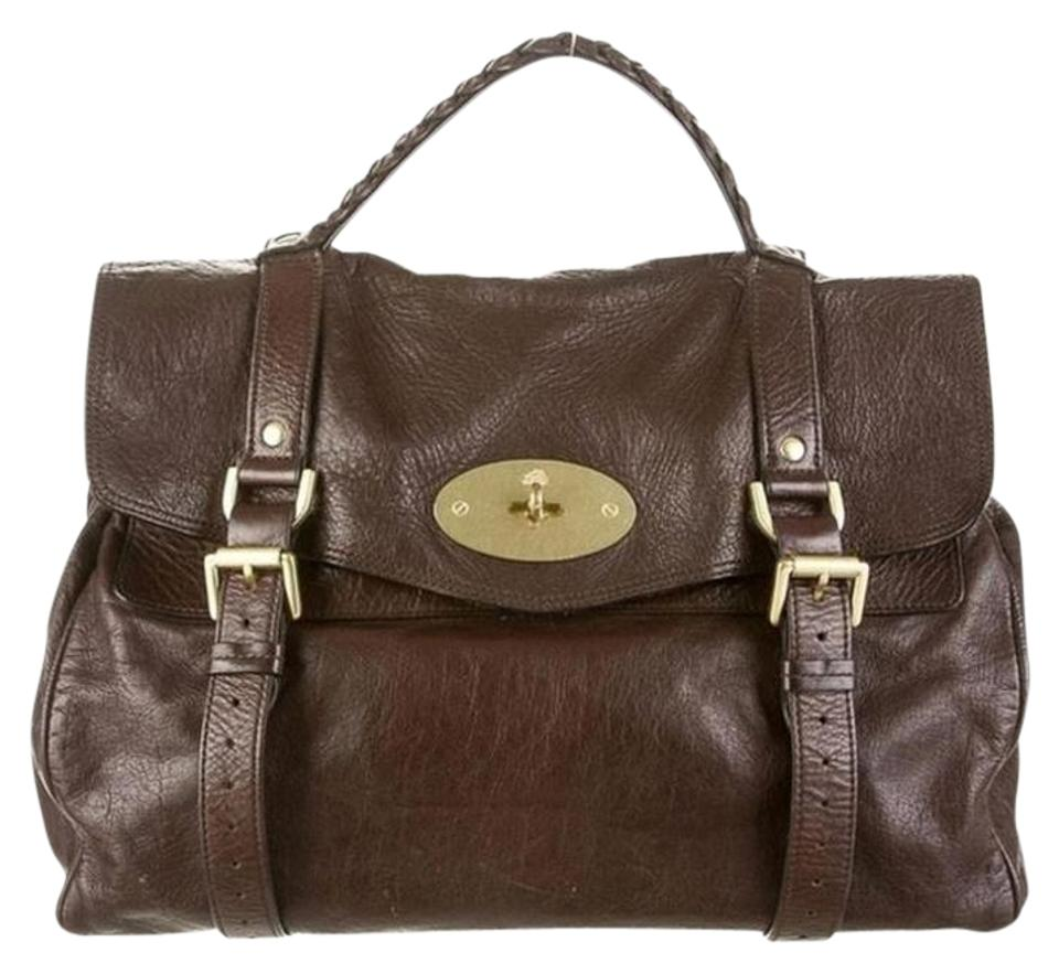 Mulberry Oversized Alexa Chocolate Messenger Brown Leather Satchel ... 3906dd30430f8