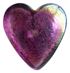 Other Glass Iridescent Heart