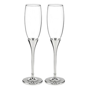 Rhinestone Wedding Toasting Flutes