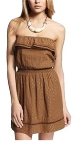 Express short dress Amber Clip Dot Spring Strapless on Tradesy