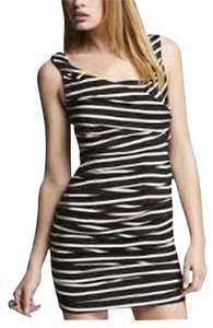 Express Striped Ruched Dress