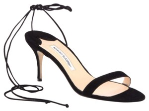 Manolo Blahnik Blac Sandals