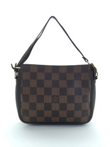 Louis Vuitton Damier Canvas Classic Pochette Evening Trousse Wristlet in Damier ebene