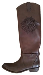Frye Laser Cut-out Design Tory Burch Brown Boots