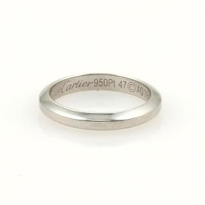Cartier Cartier Platinum 3mm Plain Wedding Band Ring Eu 47-us Wcert