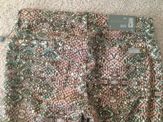 7 For All Mankind Skinny Pants Multi-colored