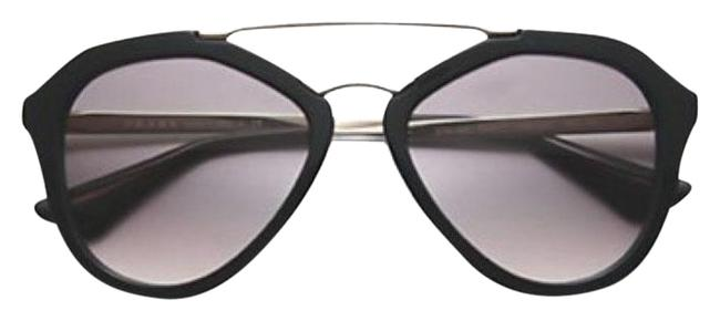 Prada Black Oversized Round Sunglasses Prada Black Oversized Round Sunglasses Image 1