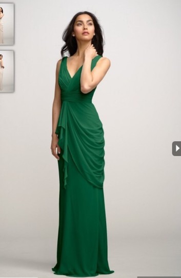 Watters Emerald Crinkle Chiffon Violet Style 2591i Traditional Bridesmaid/Mob Dress Size 8 (M) Image 1