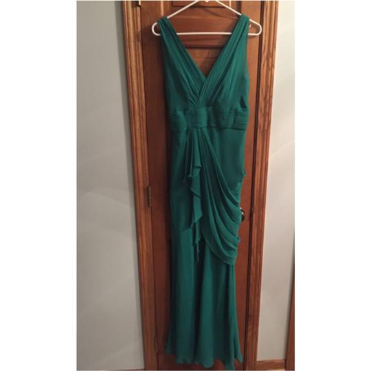 Watters Emerald Crinkle Chiffon Violet Style 2591i Traditional Bridesmaid/Mob Dress Size 8 (M) Image 2