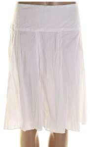 INC International Concepts Crinkle Fabric Skirt White