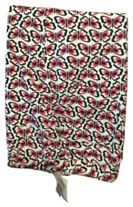Talbots Stretch Butterfly Design Capris Black/pink
