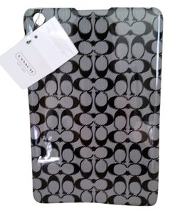 Coach Coach IPad MINI Hard Cover Case Black Signature C Molded Snap-on