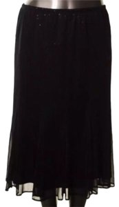 Onyx Nite Sequin Skirt Black