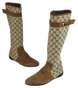 Gucci Beige/Brown Boots