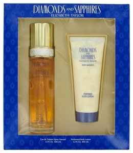 Elizabeth Taylor DIAMONDS & SAPHIRES ~ Gift Set -- 3.3 oz EDT Spray + 3.3 oz Body Lo...