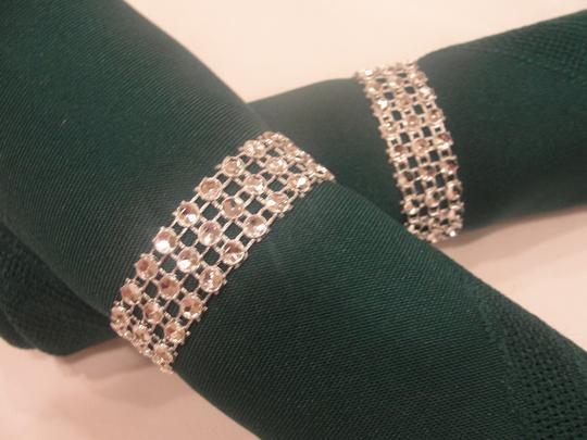 Silver 150 Rhinestone Style Napkin Rings (3 Rows) Reception Decoration