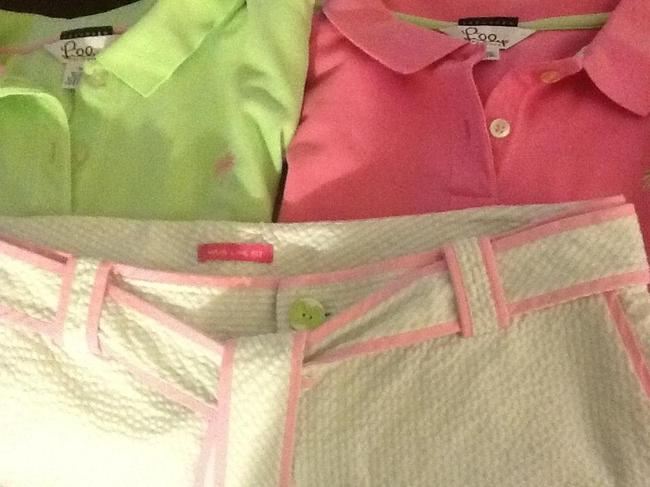 Lilly Pulitzer Polo Shirt Golf Tennis Ralph Lauren Button Down Shirt Pink, Green