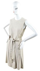 Michael Kors Taupe Suede Sleeveless Dress
