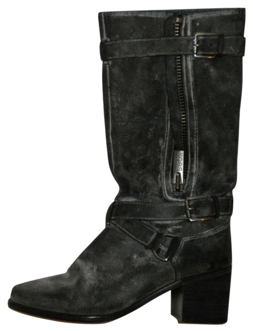 Michael Kors Leather Biker Boots/Booties Size US 7.5 Regular (M, B) Michael Kors Leather Biker Boots/Booties Size US 7.5 Regular (M, B) Image 1