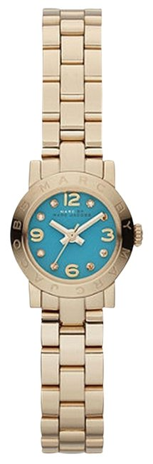 Item - Gold Skinny Gold-tone Teal Green Dial 20mm Dinky Watch