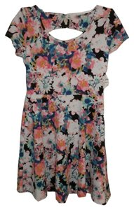 Frenchi short dress Multicolor Floral on Tradesy