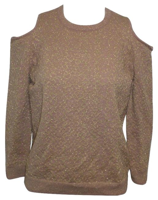 Parker Glitter Cutout Shoulder Pink Sweater Parker Glitter Cutout Shoulder Pink Sweater Image 1