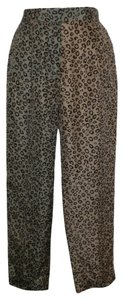 Theory Cheetah Animal Multicolor Printed Silk Trouser Pants