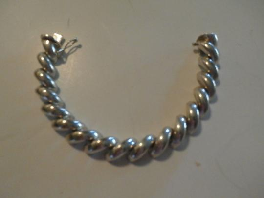 Other UNISEX SAN MARCO MACARONI 925 Sterling Silver Bracelet ITALY 7.5' 37.9 GRAMS Image 1