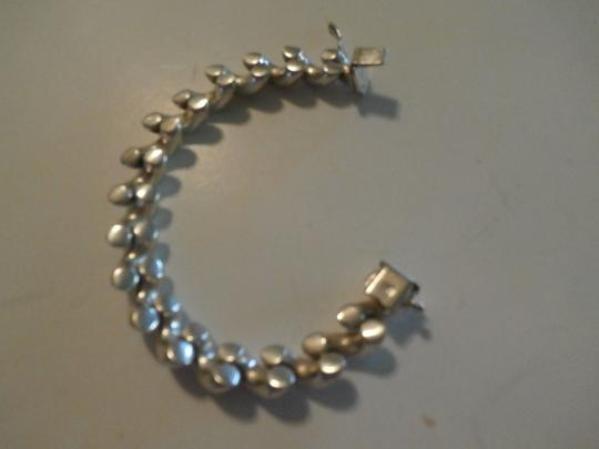Other UNISEX SAN MARCO MACARONI 925 Sterling Silver Bracelet ITALY 7.5' 37.9 GRAMS Image 2