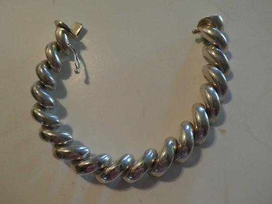 Other UNISEX SAN MARCO MACARONI 925 Sterling Silver Bracelet ITALY 7.5' 37.9 GRAMS Image 3